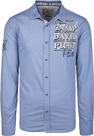 Camp David Camisa para hombre con estampado de filigrana.