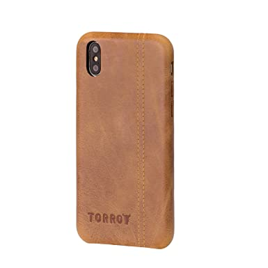 timeless design 3674a 5fb01 TORRO Genuine Leather Bumper Case Compatible With Apple iPhone XS and  iPhone X (Tan)
