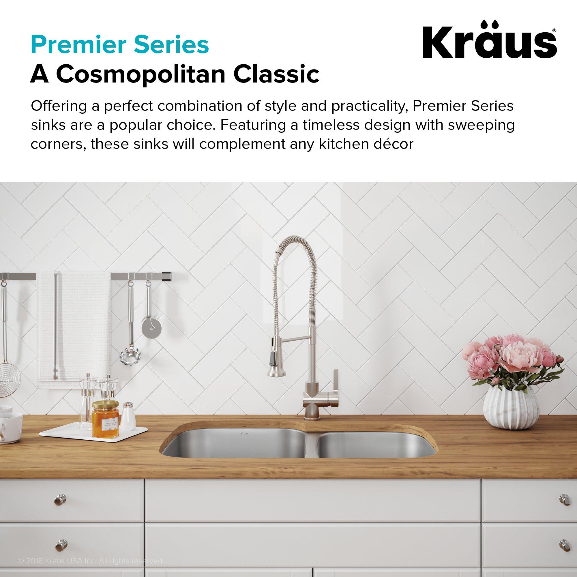 Kraus KBU24 32 inch Undermount 60/40 Double Bowl 16 gauge Stainless Steel Kitchen Sink by Kraus (Image #4)