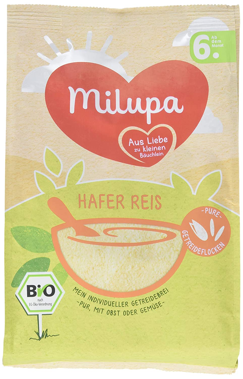 Milupa Getreidebrei Hafer Reis ab dem 6. Monat, 7er Pack (7 x 180 g) Milupa Nutricia GmbH 135900