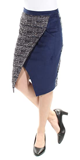 7ab2608bb Catherine Malandrino Womens Navy Below The Knee Tulip Wear to Work Skirt  Size: 2: Amazon.co.uk: Clothing