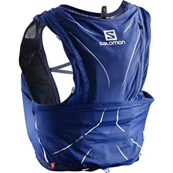 9242ddbec Salomon Unisex Adv Skin 12 Set Rucksack, Blue (Surf The Web/Medieval Blue