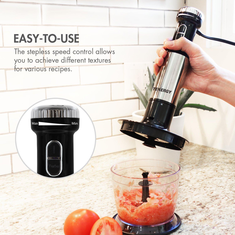Amazon.com: Tenergy Immersion Blender, 200W Multi-Speed Food Mixer ...