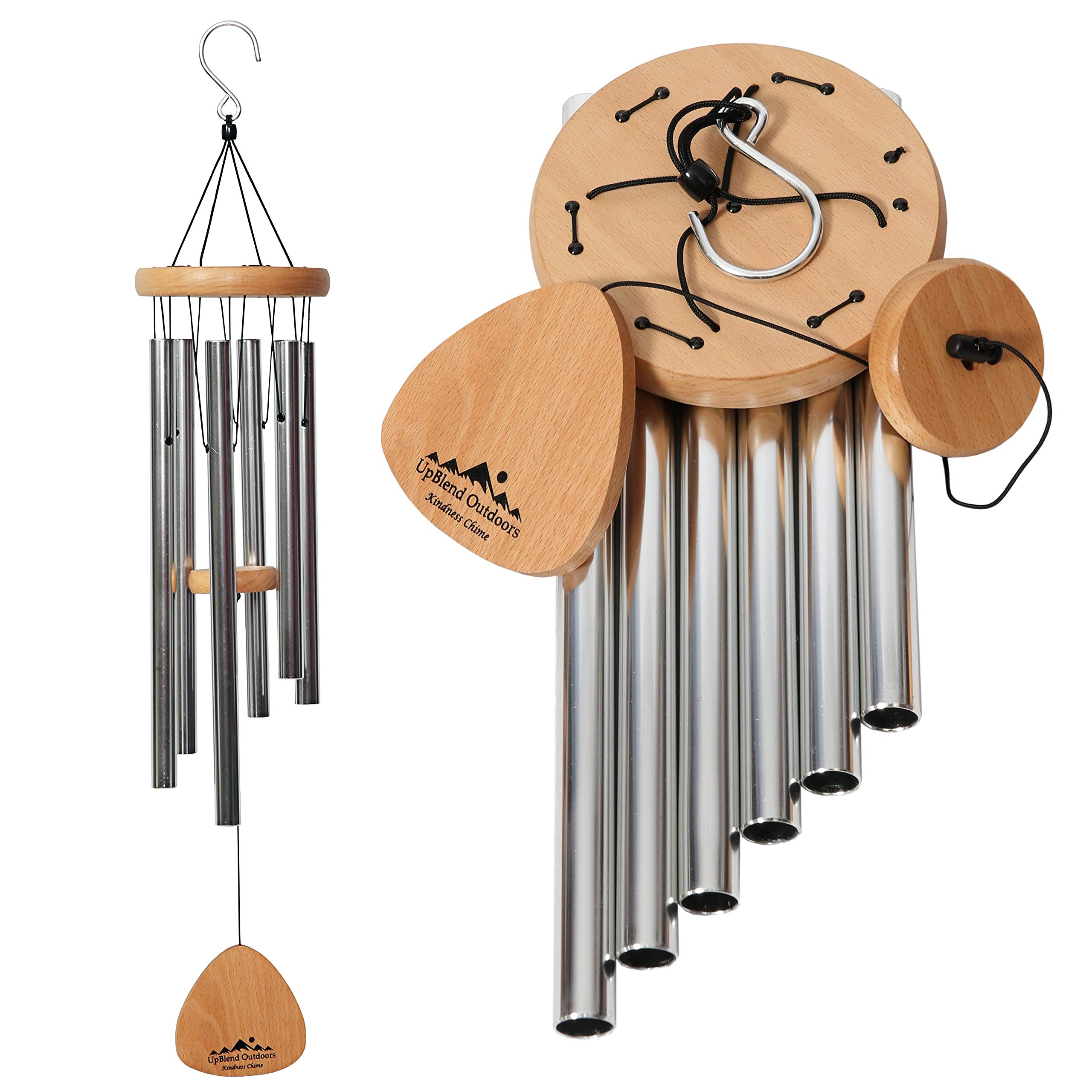 UpBlend Outdoors Wind Chimes for People who Like Their Neighbors 2 - an Amazing Addition to a Patio, Porch, Garden, or Backyard - 29'' Total Length.