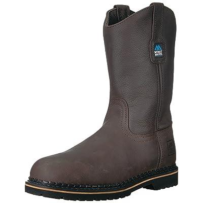 MCRAE Men's Mid Calf Boot, Brown, 6 W US | Western