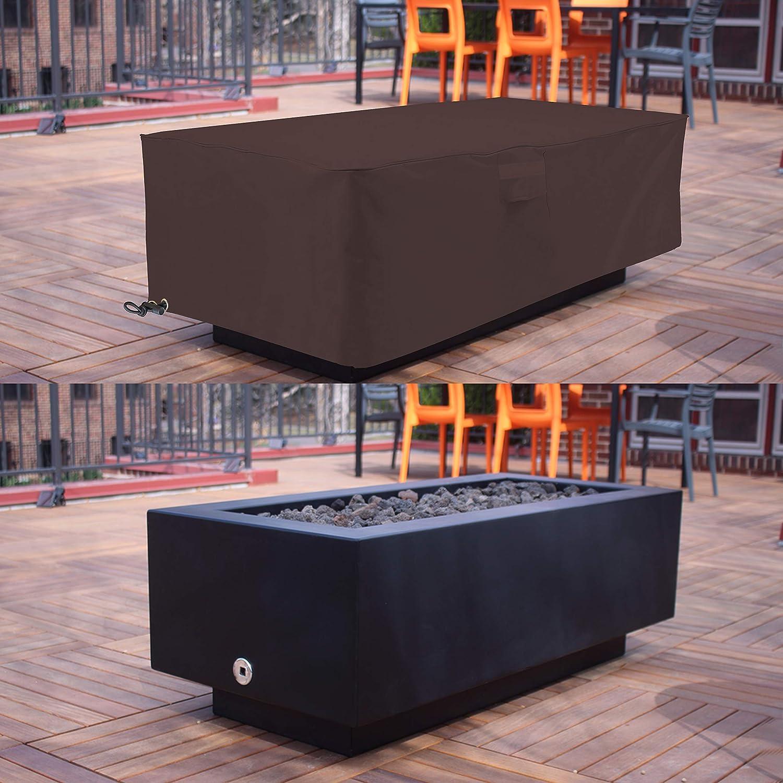 Amazon.com: Fire Pit Cubiertas al aire libre rectangulares ...