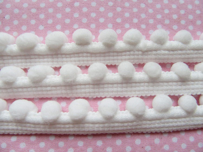 pom Size 4mm YYCRAFT 15 Yards White Tiny Pom Pom Trim