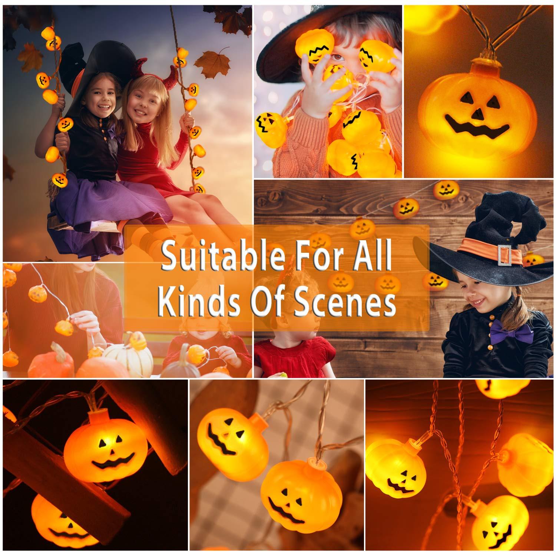 Luces LED de cadena, innislink Calabaza Luces de Cadena 2m 20 LED Lámpara Batería Luces de Hada Cadena Decoración de bricolaje para Halloween Boda Fiesta De ...