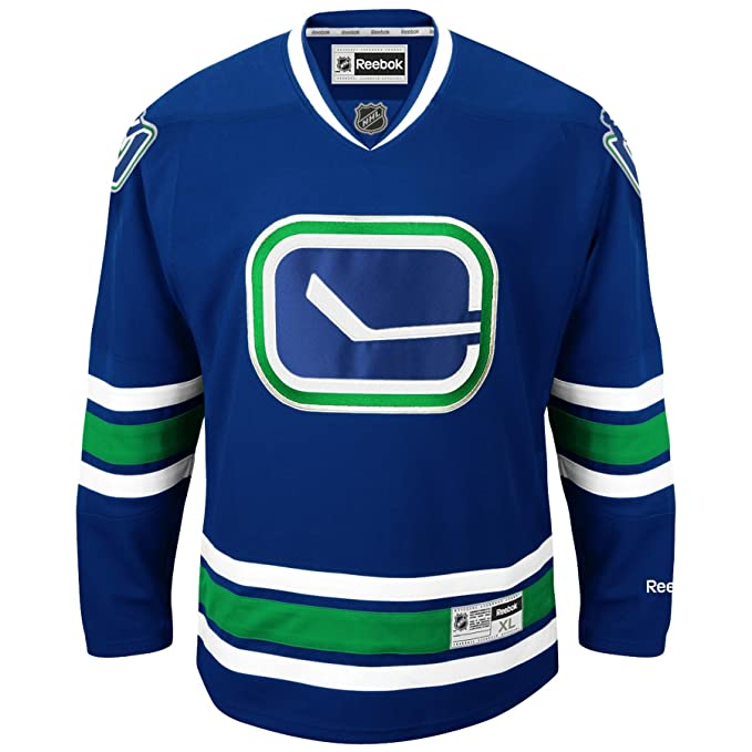 05f3f8ea9 Vancouver Canucks Reebok Premier Youth Replica Alternate NHL Hockey Jersey  - Size Small   Medium