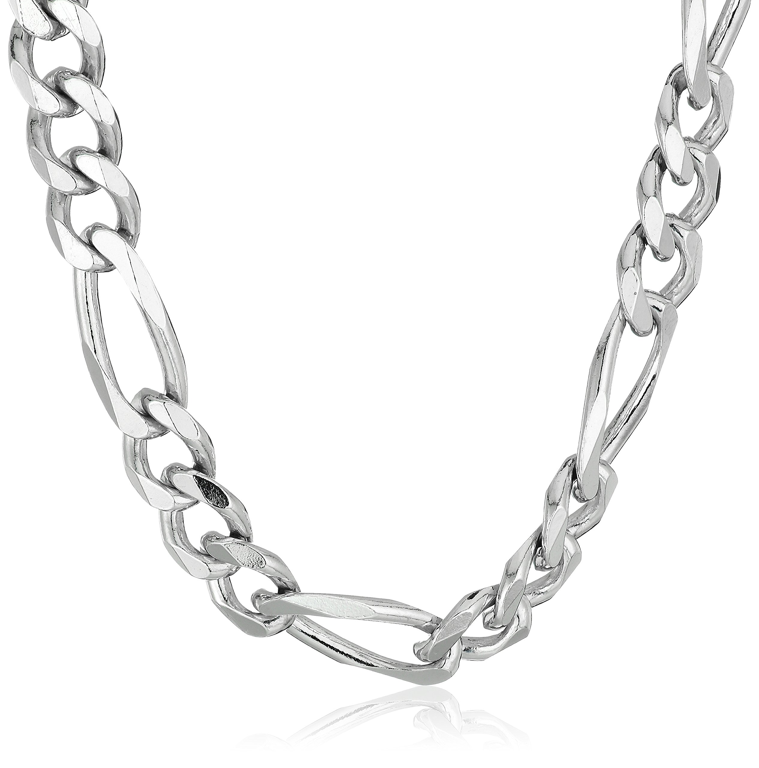Men's Sterling Silver Italian 6.80mm Solid Figaro Link-Chain Necklace, 24''