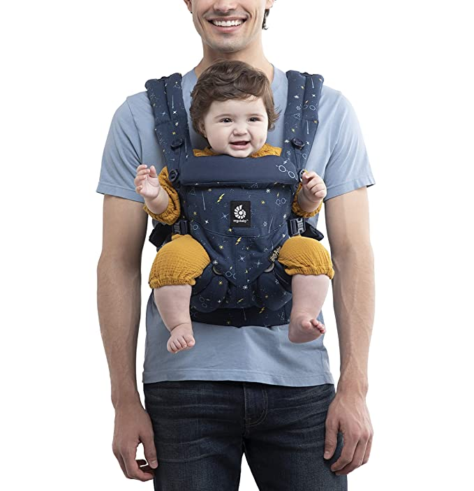 Ergobaby Harry Potter Omni 360 All-Position Baby Carrier for Newborn to Toddler with Lumbar Support (7-45 Pounds), Lumos Maxima