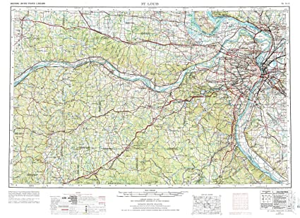 Amazon.com : YellowMaps St Louis MO topo map, 1:250000 Scale ...
