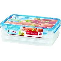 Clipe Close Porta Frios 3 Compartimentos Emsa Multicor Plástico