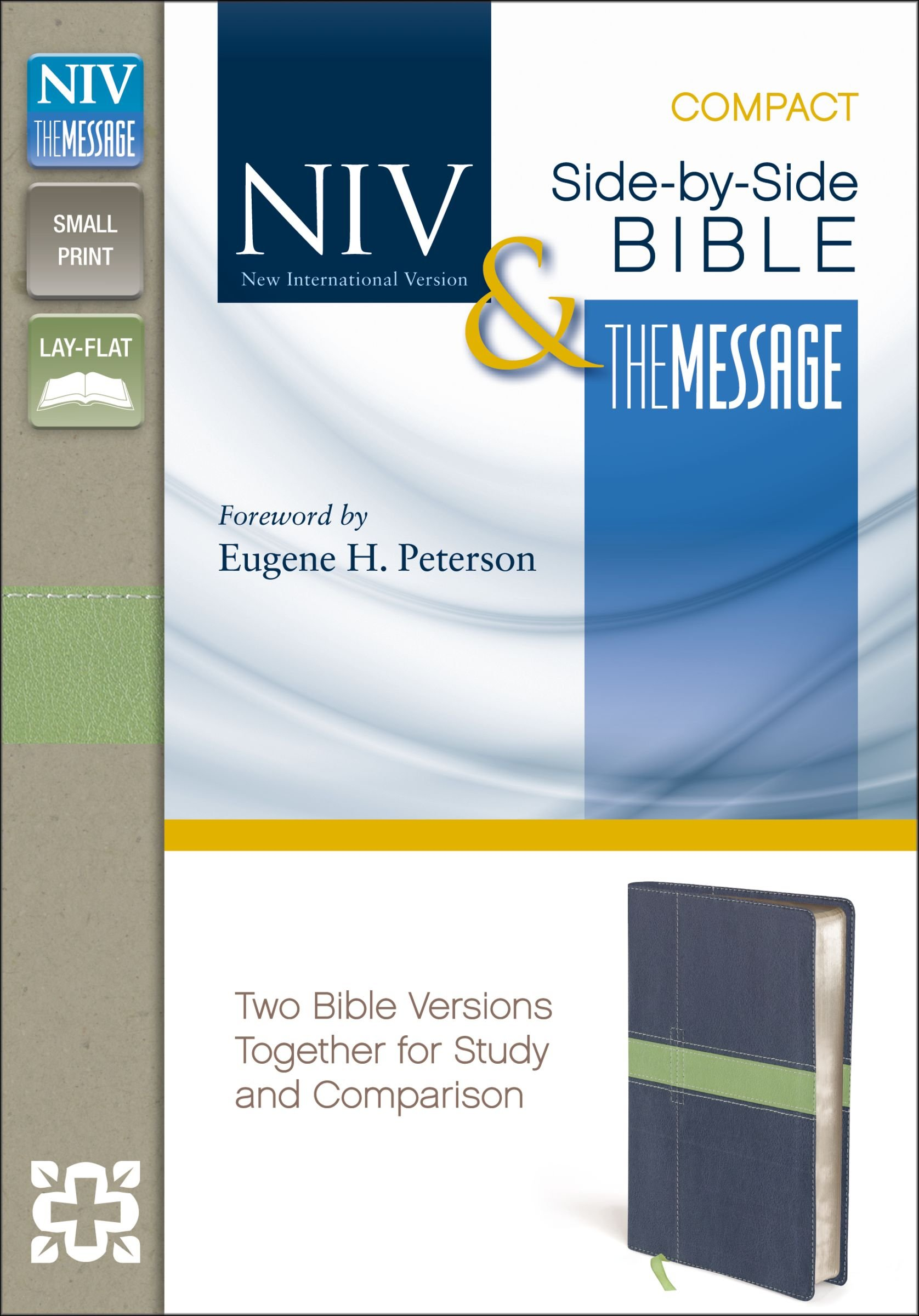 NIV, The Message, Side-by-Side Bible, Compact, Imitation Leather