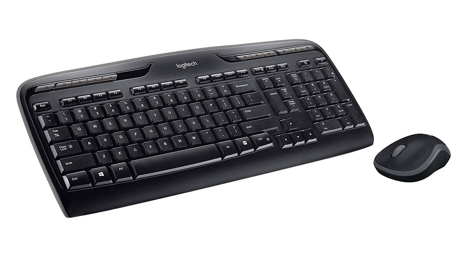 9ec4630a7da Amazon.com: Logitech MK320 Wireless Desktop Keyboard and Mouse Combo —  Entertainment Keyboard and Mouse, 2.4GHz Encrypted Wireless Connection,  Long Battery ...