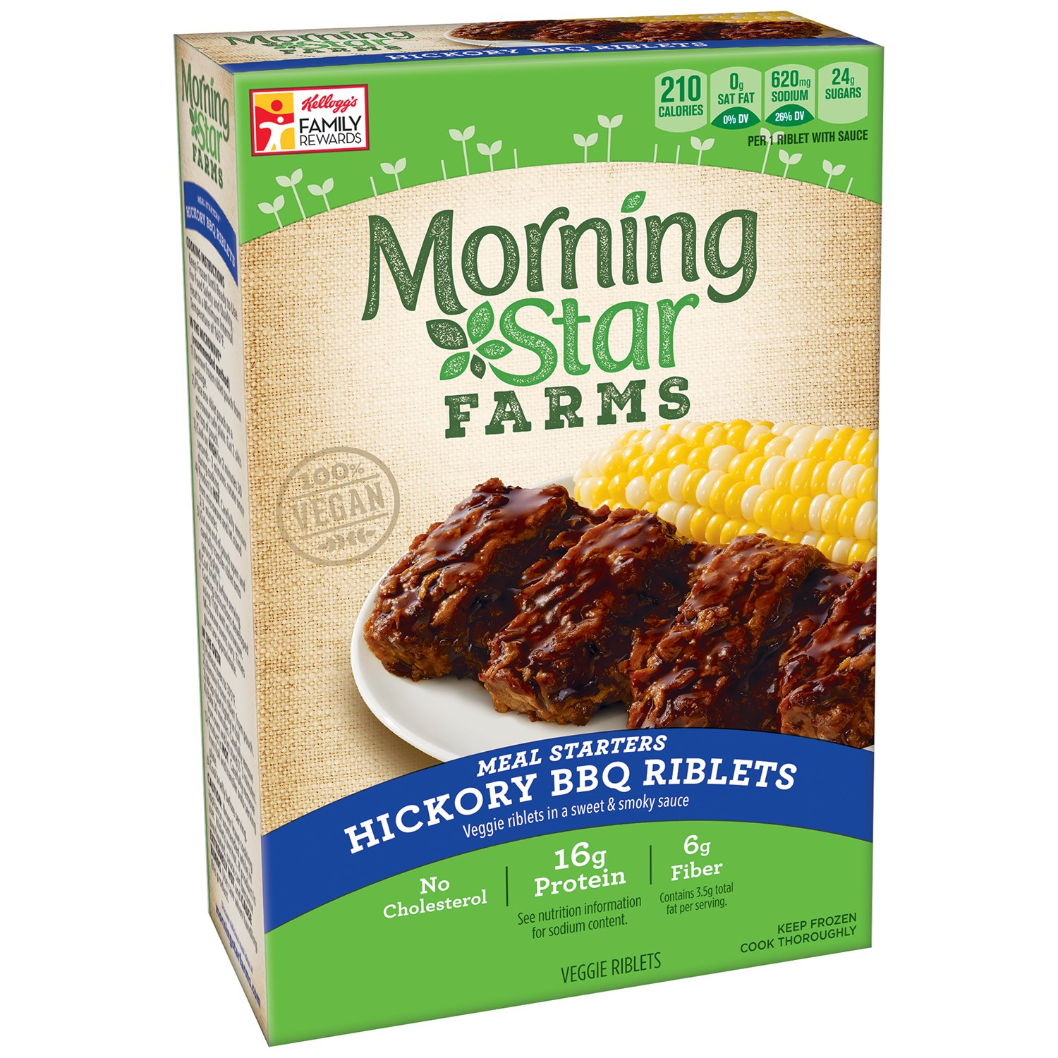 Morningstar Farms Meal Starters Hickory Bbq Riblets 10 Oz Frozen Amazon Com Grocery Gourmet Food