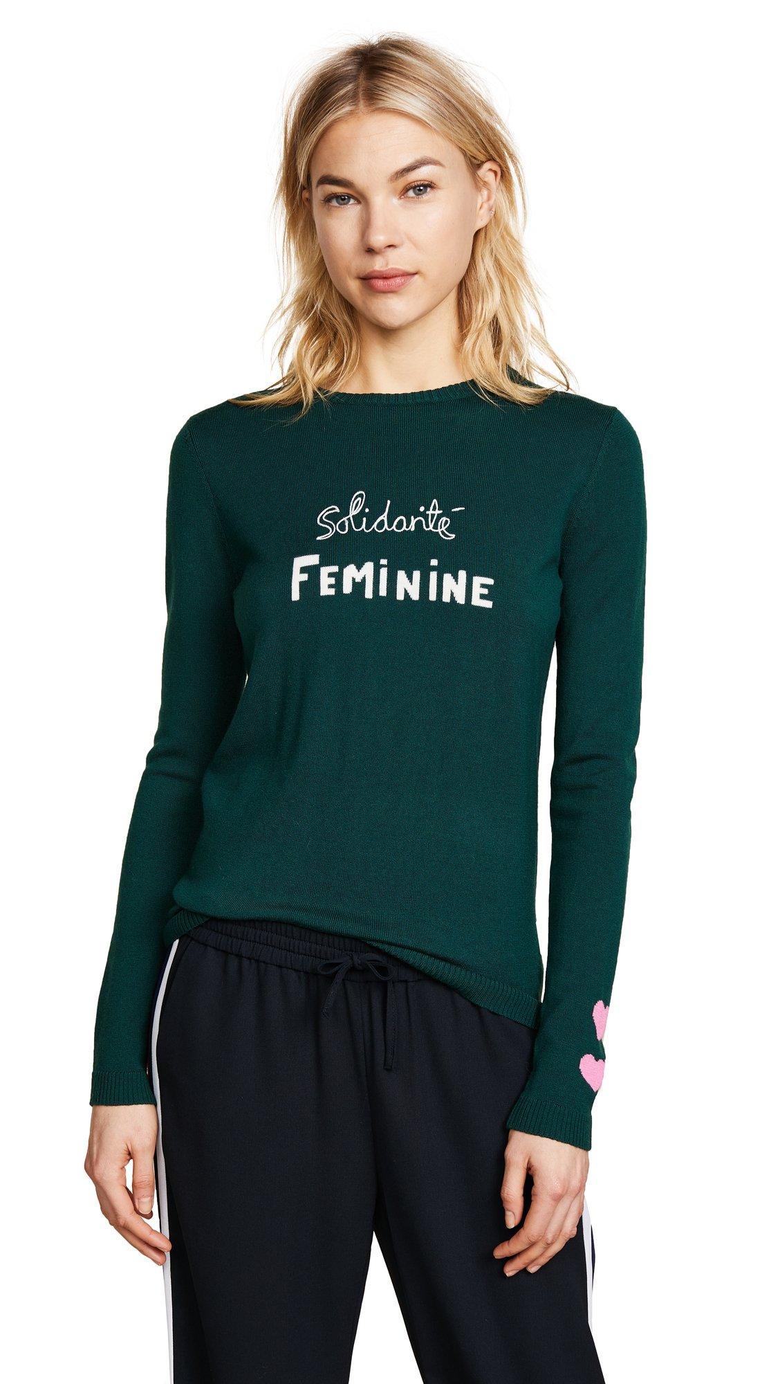 Bella Freud Women's Solidarité Feminine Jumper, Bentley Green, X-Small