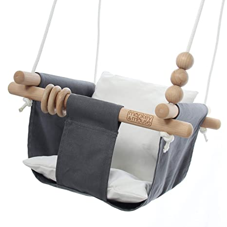 Amazon.com: Monkey & Mouse - Asiento columpio de madera y ...