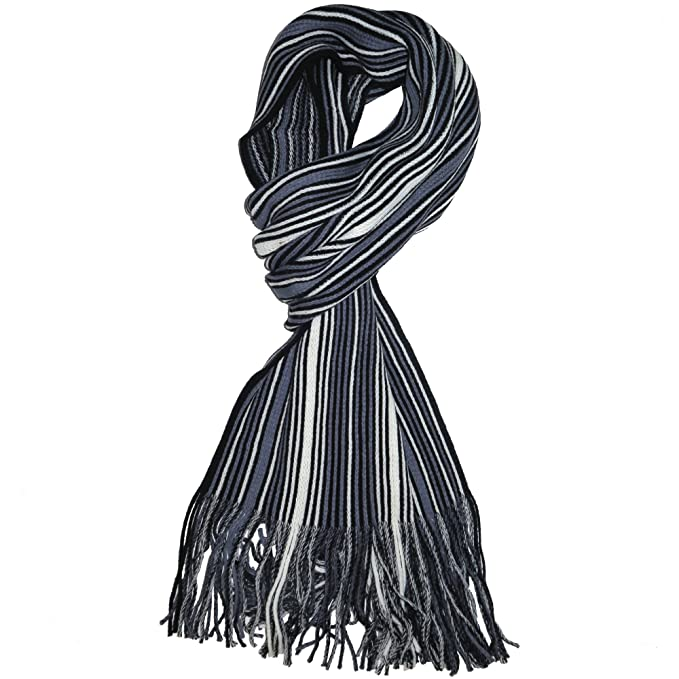a4df20c428ab Knit Winter Scarf In 8 Colors, Warm And Soft With Stylish Stripes By ...