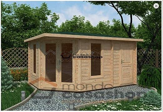 Mondocasette Casa Casa de Madera de jardín – Modelo Capri Grosor Paredes 45 mm 440 x 300 cm, ripostiglio legnaia Box: Amazon.es: Jardín