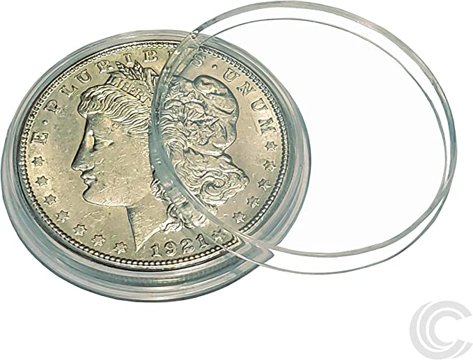 10 Silver Peace Dollar Coin Holder Snap Capsule 38mm QUADRUM 2x2 Storage Case