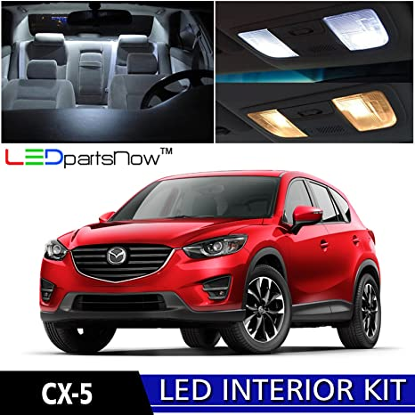 LEDpartsNow 2013 2017 MAZDA CX 5 LED Interior Lights Accessories  Replacement Package Kit (