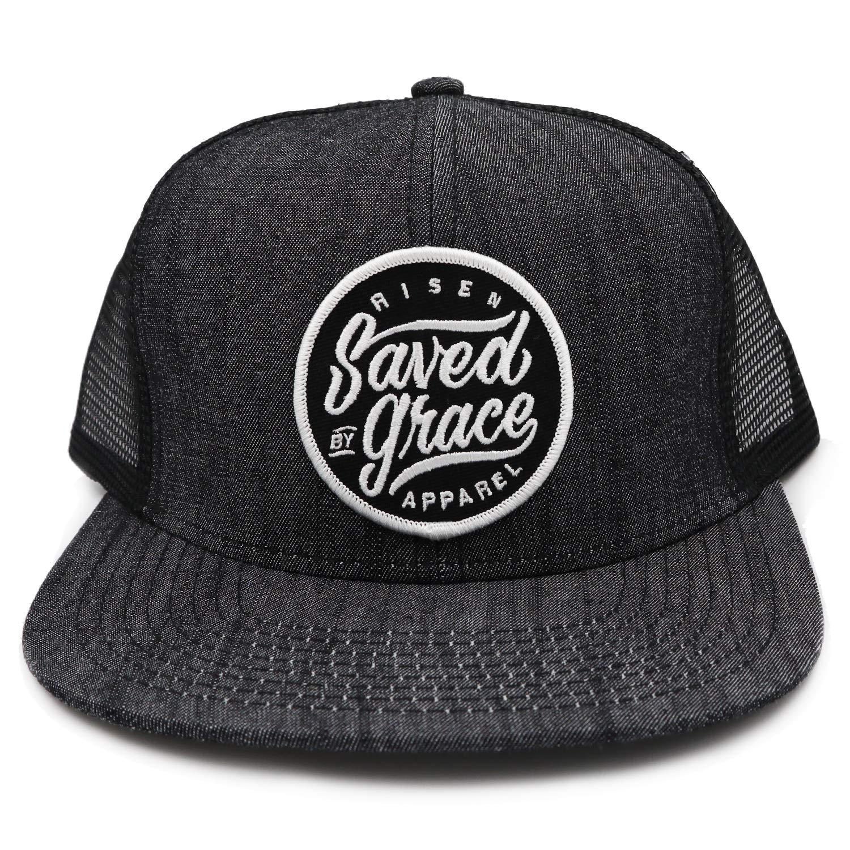 Saved by Grace Trucker Snapback Blue