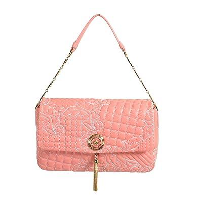 Amazon.com  Gianni Versace Leather Pink Women s Handbag Shoulder Bag  Shoes 5d7402d637a95