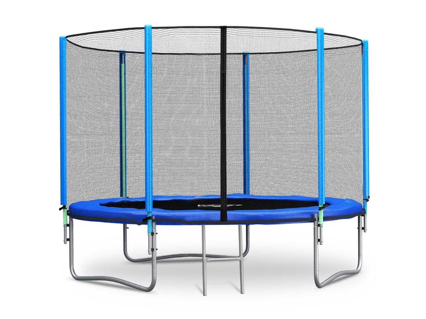 Trampolin 244 cm 8 ft mit Sicherheitsnetz Außennetz und Einstiegsleiter Neo-Sport Gartentrampolin