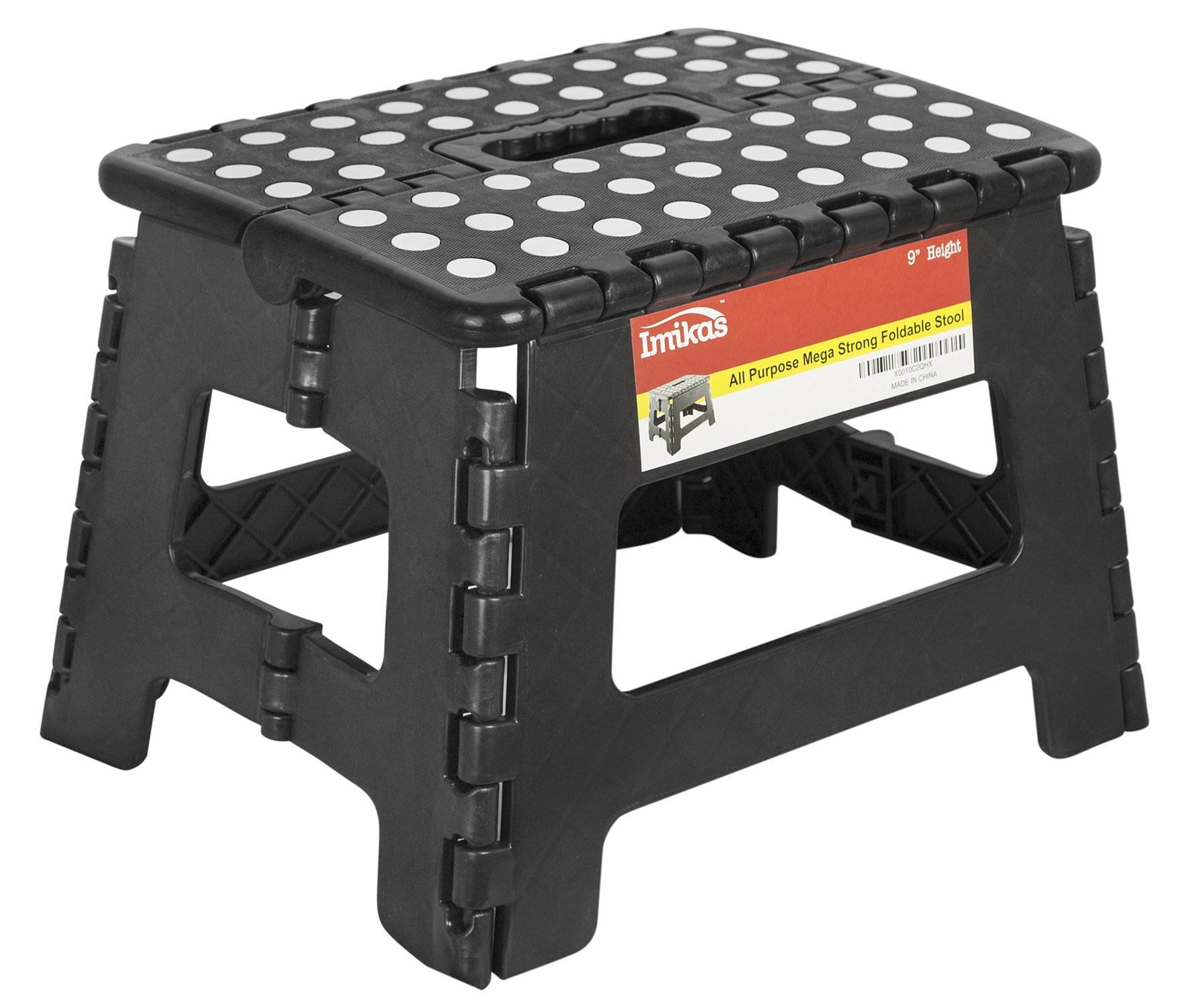 Folding Step Stool - 9 inch Height Premium Heavy Duty Foldable Stool For Kids & Adults, Kitchen Garden Bathroom Stepping Stool From ImiKas