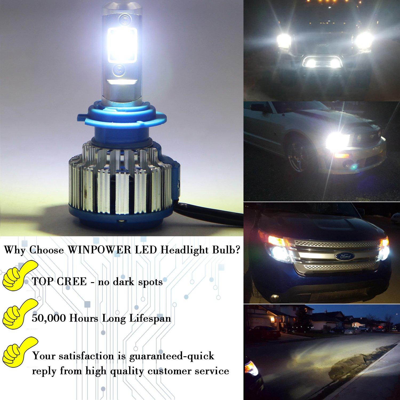 WinPower H7 LED Bombillas de faros Todo en uno Kit de conversión 70W 7200 lúmenes 6000K Blanco frio , 2 Piezas: Amazon.es: Coche y moto