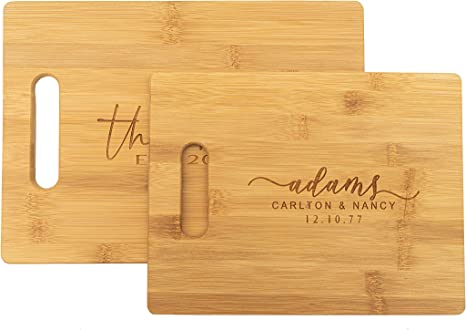 Family Name Engraved Cutting Board Housewarming Gift Personalized cutting board Anniversary Gift Kitchen Decor Wedding Gift