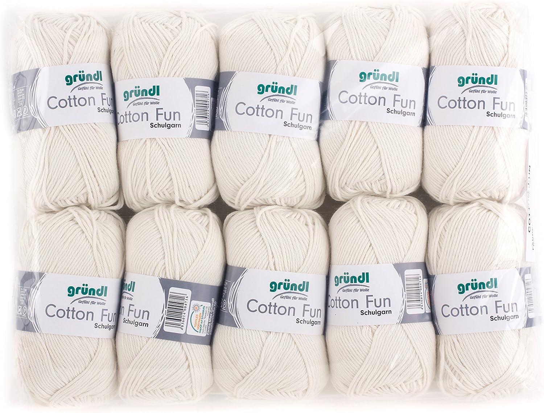 Gründl Cotton Fun Lana, algodón, algodón, Beige, 27.00 x 11.00 x 07.00 cm