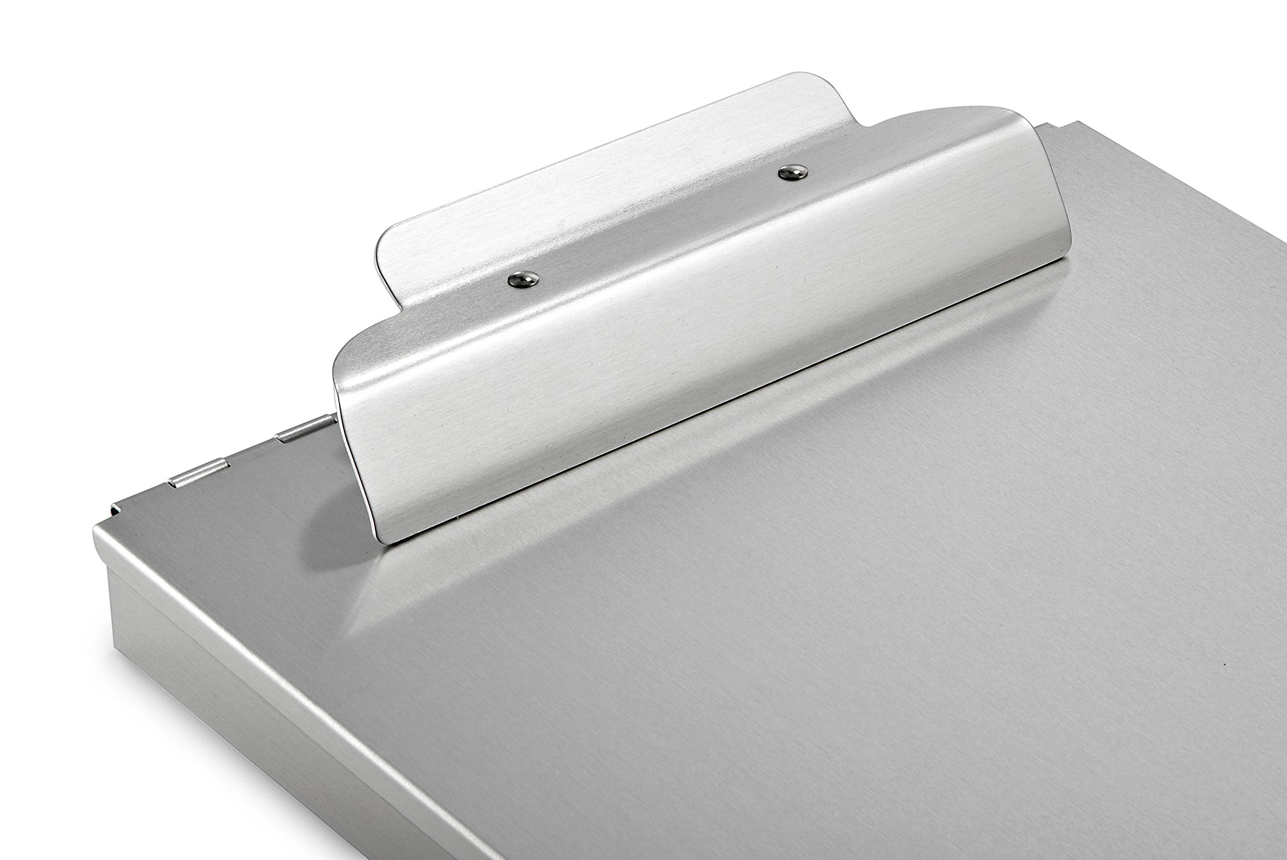 AdirOffice Aluminum Form Storage Clipboards - 9.25'' x 14'' - Spring-Loaded Tooth Clamp - Lightweight - Heavy Duty (1'' Height) by AdirOffice (Image #3)