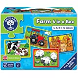 Orchard Toys Farm Four in a Box, Multi Color