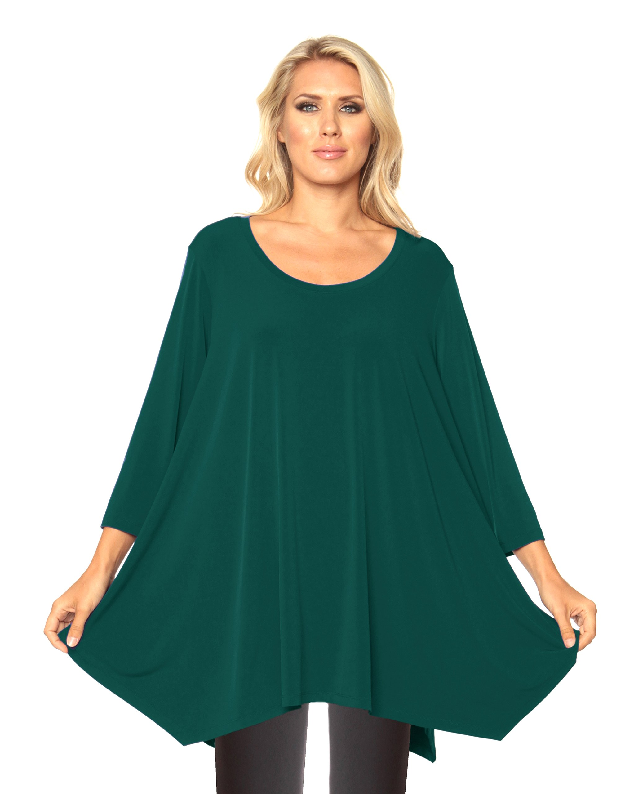 Alisha D Travel Wear Best Selling Plus Sized Tunic (2,New Forest)