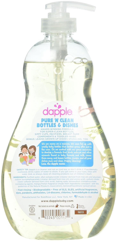 Dapple Pure & clean bebé botella y plato de líquido de mango ...