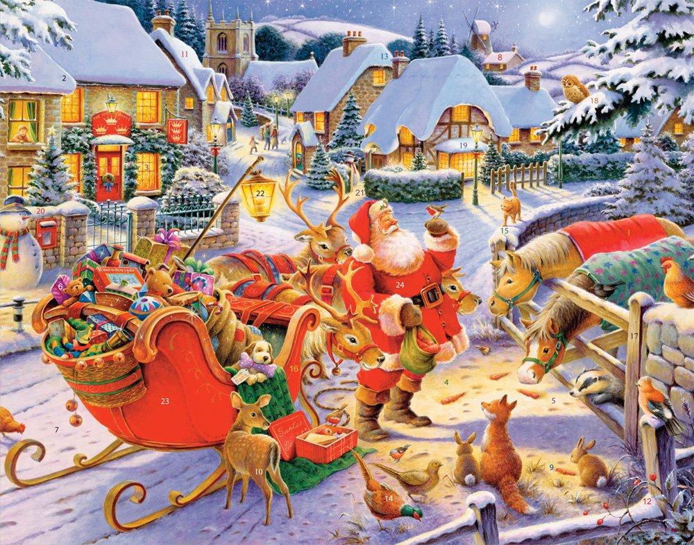 Santa & Friends Advent Calendar (Countdown to Christmas) Vermont Christmas Company