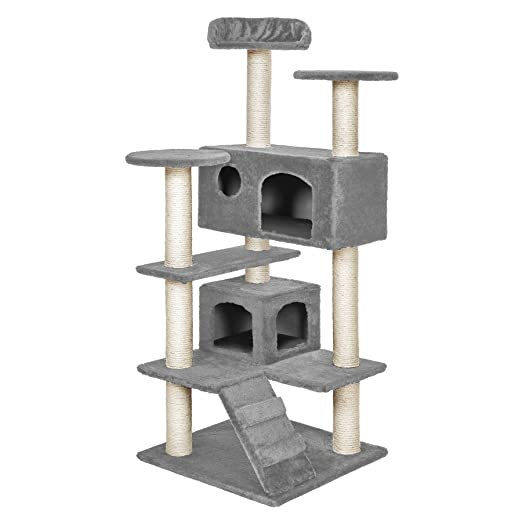 20 opinioni per TecTake Tiragraffi per gatto gatti gioco palestra nuovo grigio