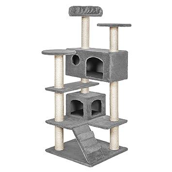 TecTake Rascador para Gatos Árbol para Gatos Trepar Sisal Juguetes (Gris | no. 400574): Amazon.es: Hogar