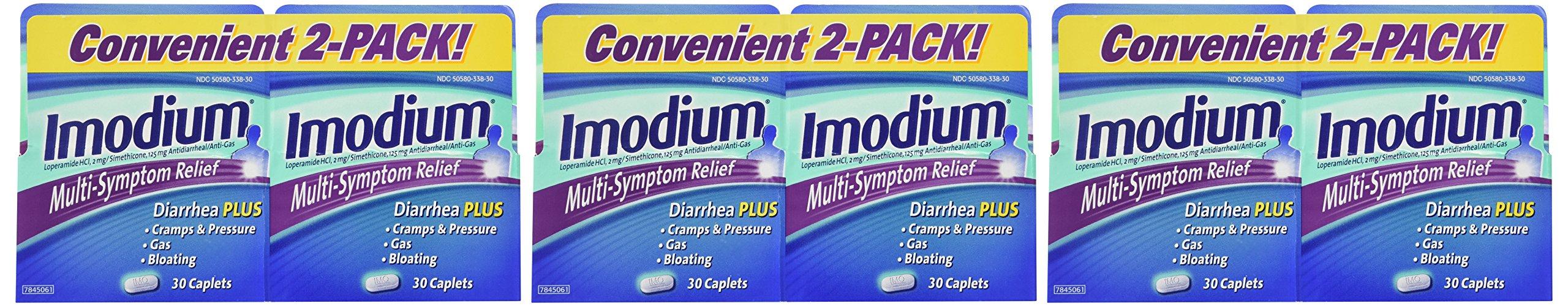 Imodium Multi-Symptom Relief - 6 Pack (30 count each), Total = 180 Count