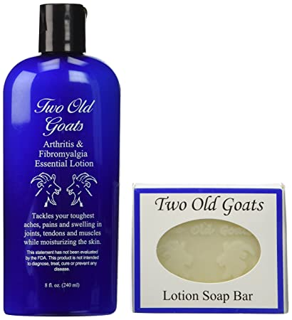 Amazoncom Two Old Goats Essential Lotion 8 Oz Soap Bar For