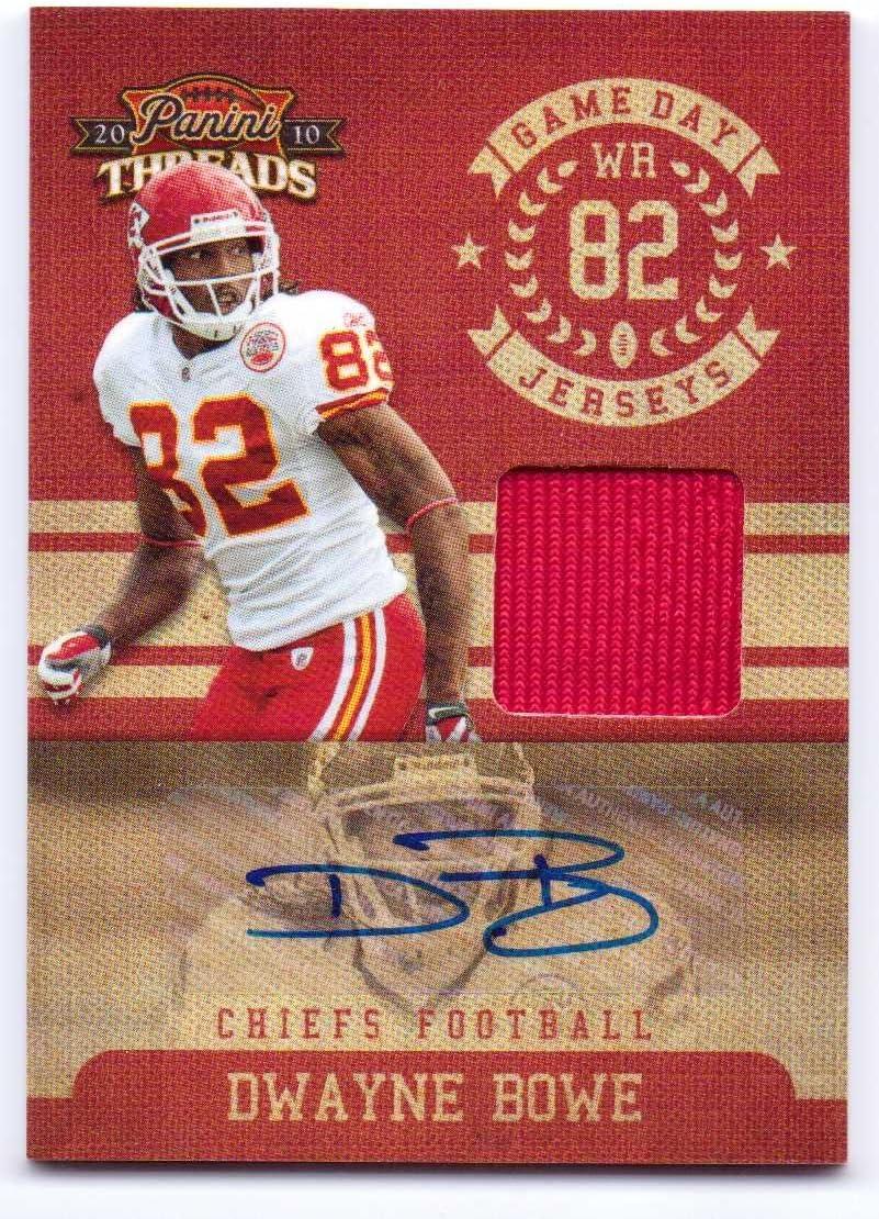 Dwayne Bowe 2010 Panini Threads Game Day Jerseys Autograph #7 - 07/15 - Kansas City Chiefs 816OwXyGXIL