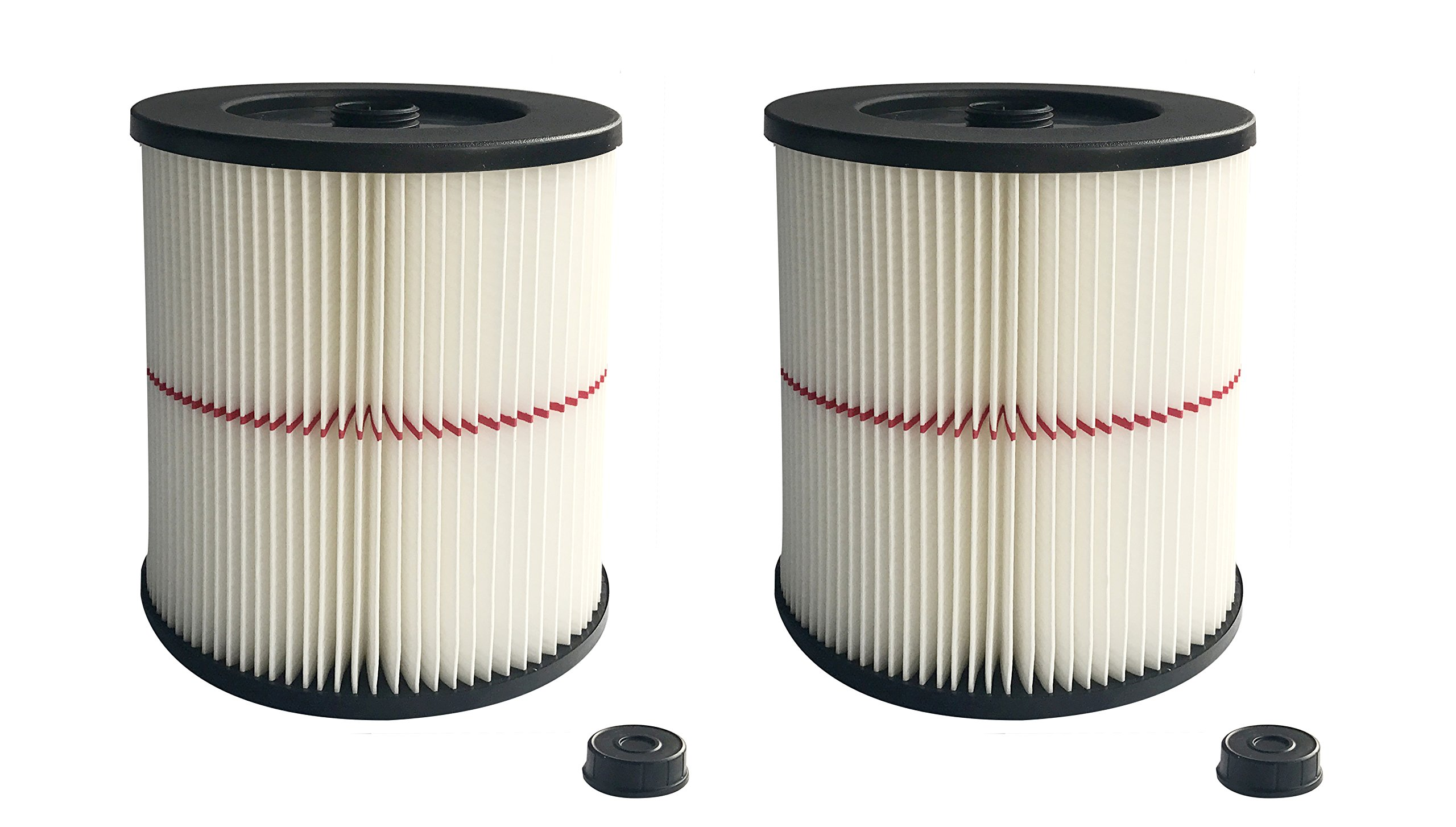 ATXKXE Vacuum Cleaner Air Cartridge Filter for Craftsman 17816 Filter (2 Pack) by ATXKXE