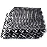 Basics Hardware Tappetino Puzzle con Tessere a Incastro in Schiuma Eva, Pavimentazione Protettiva per Attrezzi da Palestra e Cuscinetto per Esercizi