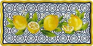 Le Cadeaux 297PAL Palermo Lemon Melamine Biscuit Tray, 10 Inch x 5 Inch