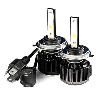 Krator LED H4 Faro Conversión Bombillas 40 W bombillas (9003/hb2 6000 K Blanco Con Integrado Turbo ventilador de refrigeración para 2006 - 2015 Kawasaki ...