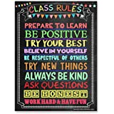 Classroom Rules Poster (Laminated 18X24) Motivational Poster Ideal for High School Classroom, Middle School Classroom or…