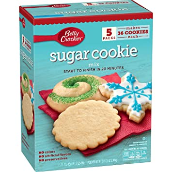 Betty Crocker Holiday Sugar Cookies Mix Kit Recipe Collection Makes 15 Dozen Cookies