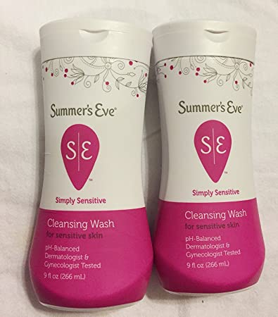 6 Pack - Summers Eve Simply Sensitive Cleansing Wash for Sensitive Skin 9 oz QUEEN HELENE Natural Facial Scrub, Mint Julep 6 oz (Pack of 3)